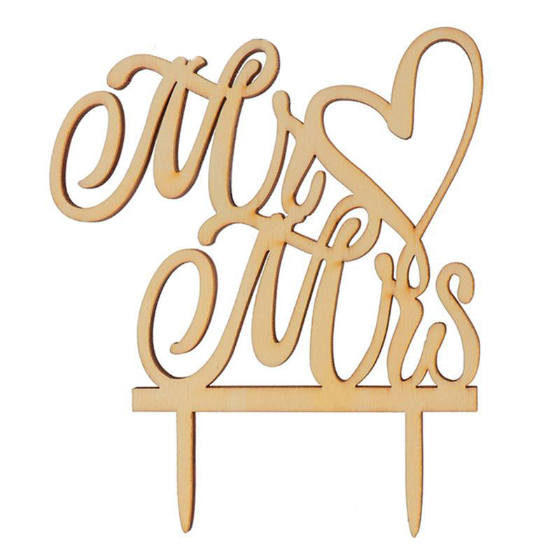 Rustic Mr & Mrs Cake Topper