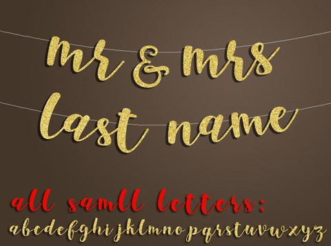 Personalised Mr & Mrs Hanging Banner
