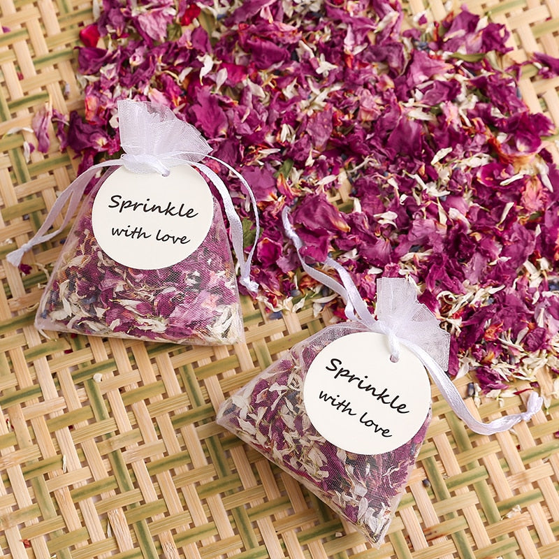 Dried Flower Petal Confetti Bags