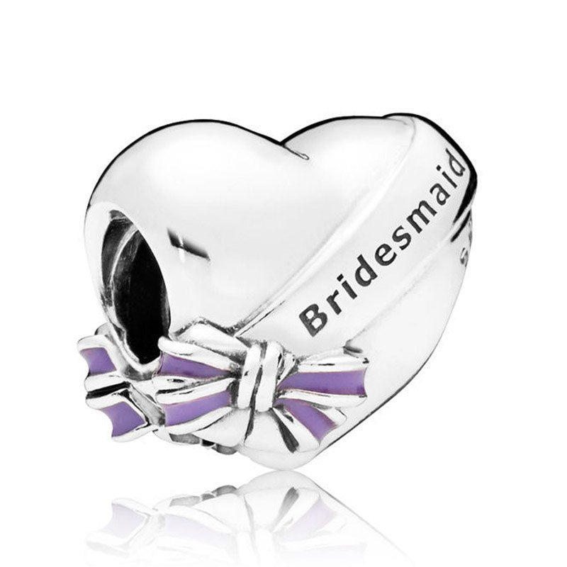 Bridesmaid Charm 925 Sterling Silver