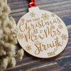 Personalised Our First Christmas Tree Decoration 10 Pack