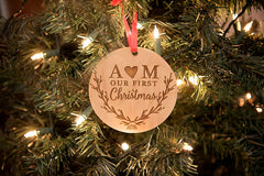 Personalised Our First Christmas Ornament