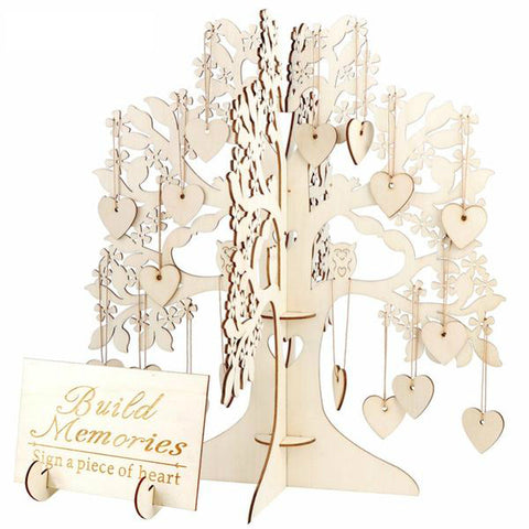 Wishing Tree Freestanding Wooden Guest Book