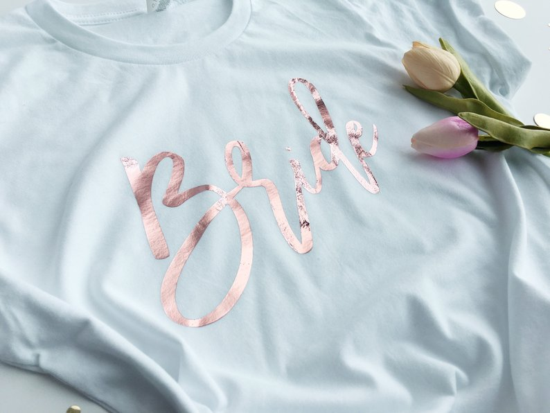 Personalised Bridal Party T-Shirts
