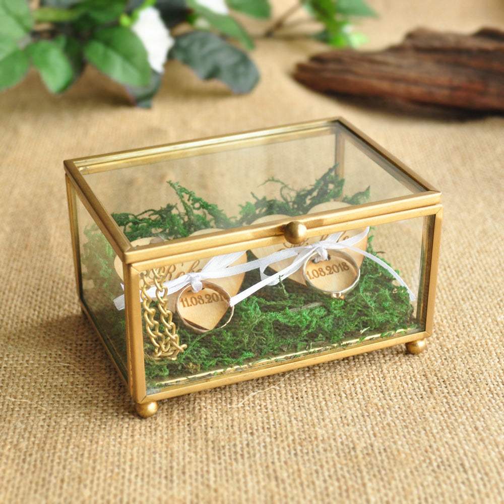 Personalised Glass Ring Box