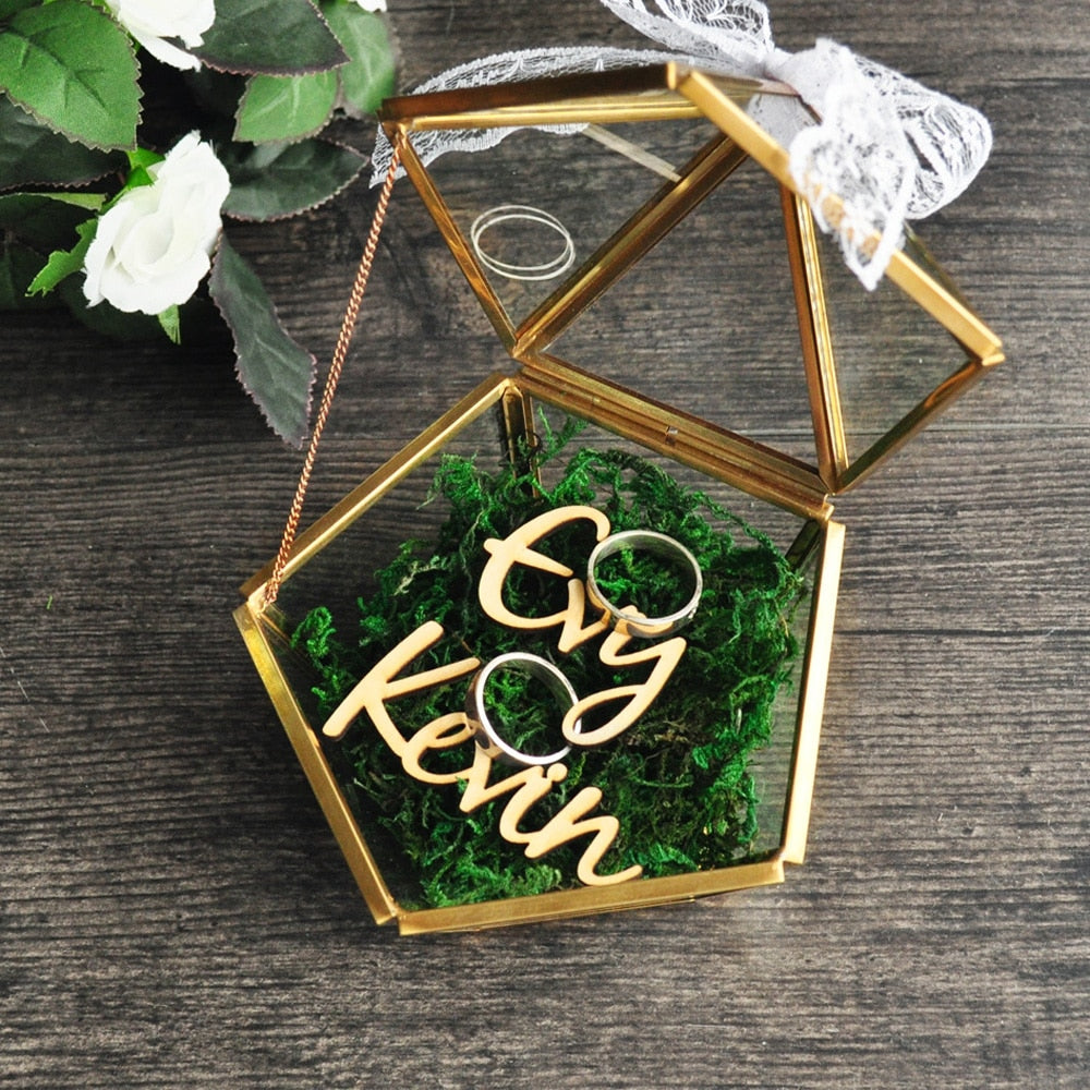 Personalised Pentagon Ring Box