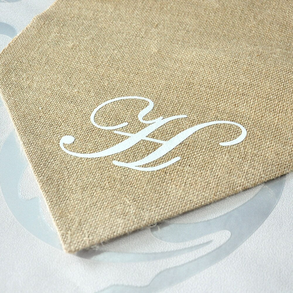 Personalised Initial Burlap Table Runner