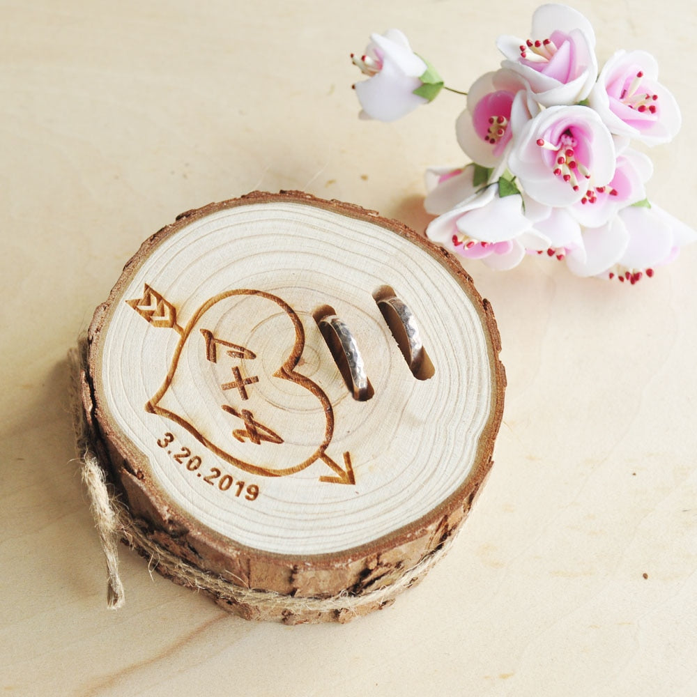 Personalised Initial Wooden Ring Holder