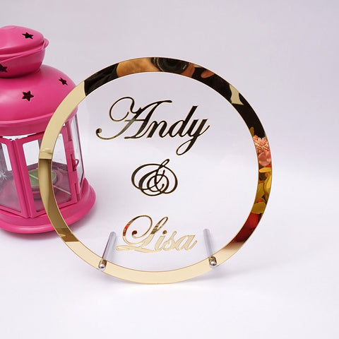 Personalised Acrylic Top Table Sign