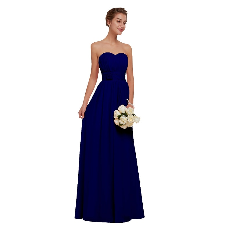 Royal Blue Sweetheart Bridesmaid Dress