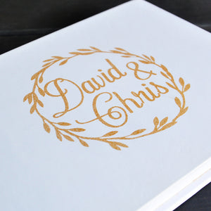 Personalised Wedding Guest Book