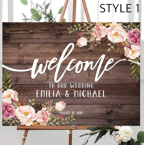 Personalised Welcome Wedding Wooden Sign