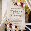 Image of Welcome To Our Unplugged Ceremony Wooden Sign