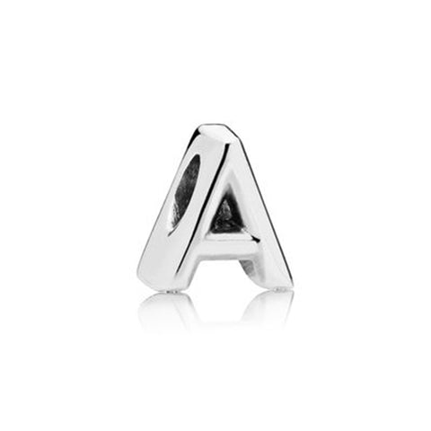 Silver Letter Charm