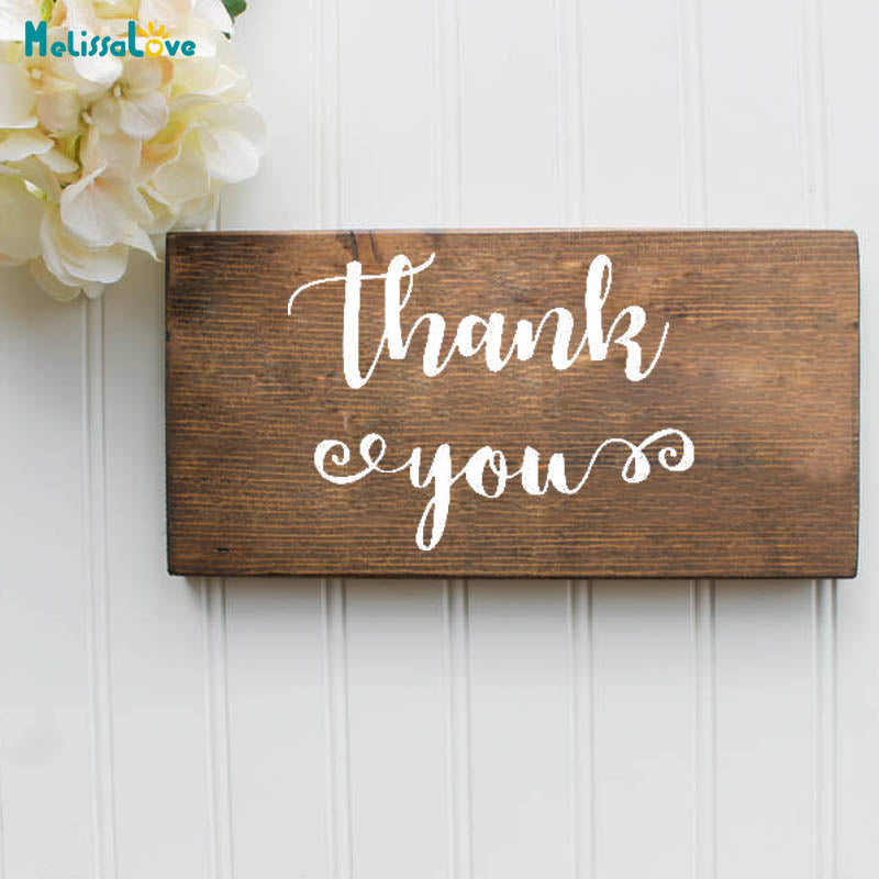"""Thank You"" Decal"