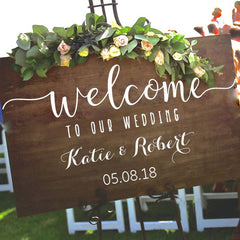 Personalised Wedding Welcome Decal