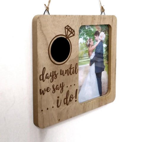 Days Until We Say I Do Wedding Hanging Photo Frame