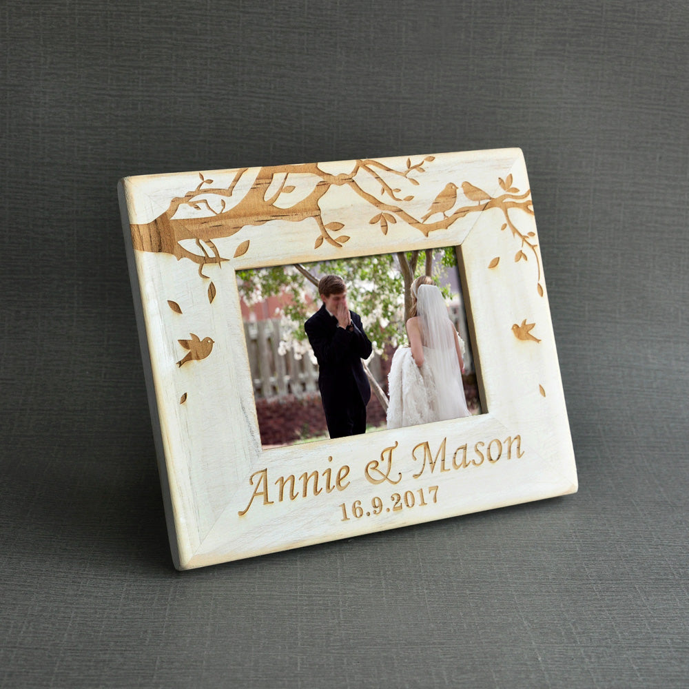 Personalised Photo Frame Wedding Gift: Personalised Wedding Day Picture Frame