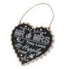 Image of Mr & Mrs Heart Hanging Sign