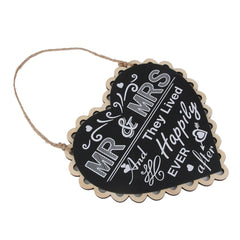 Mr & Mrs Heart Hanging Sign