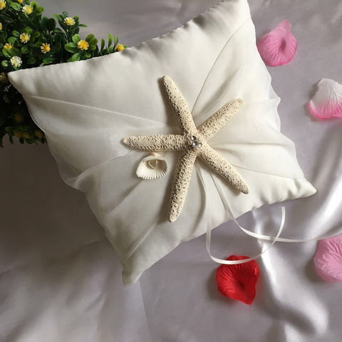 Beach Themed Guest Book, Pen, Basket & Cushion Set