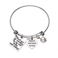 Sister of Bride or Groom Bracelet