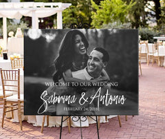 Personalised Photo Wedding Welcome Sign