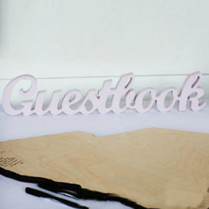 "Freestanding 3D ""Guestbook"" Sign"