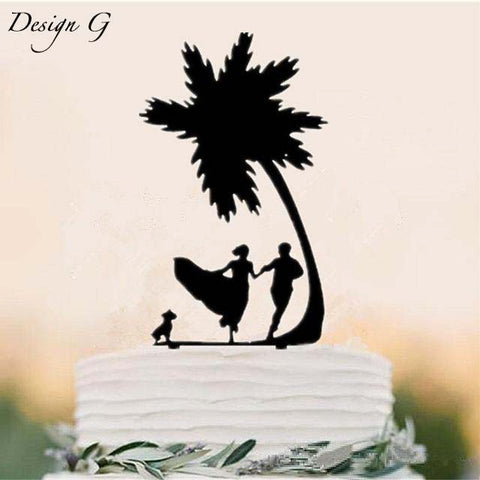 Beach Themed Wedding Cake Topper
