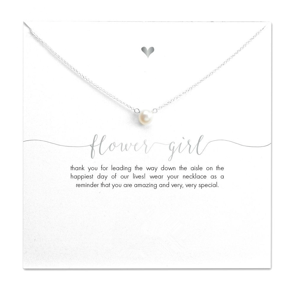 Flower Girl Faux Pearl Necklace