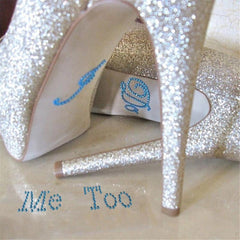 Diamante Wedding Shoe Stickers