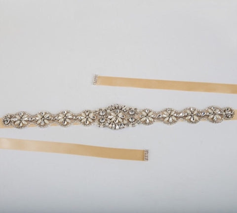 Bridal Belt with Crystal Detail