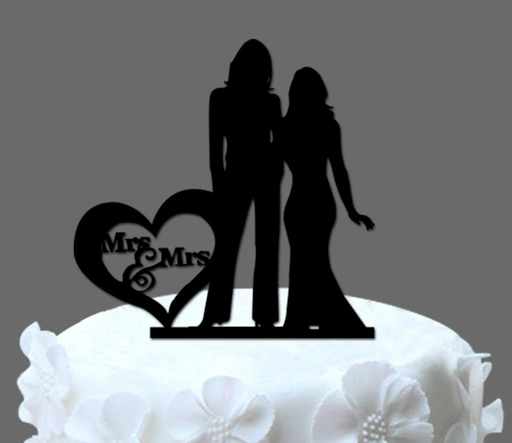 Mrs & Mrs Wedding Cake Topper