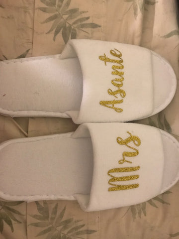 Personalised Morning of the Wedding Slippers