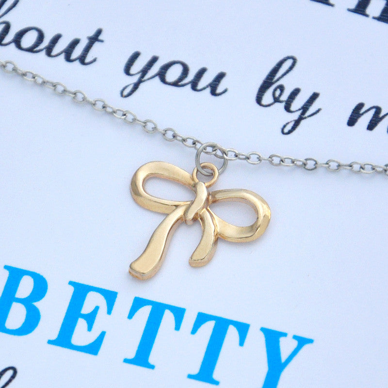 """Will You Be My Bridesmaid"" Necklace Personalised Gift"