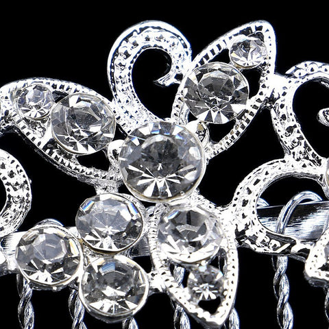 Silver Plated Crystal Hairpiece