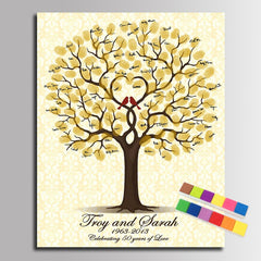 Personalised Wedding Tree Fingerprint Guest Book