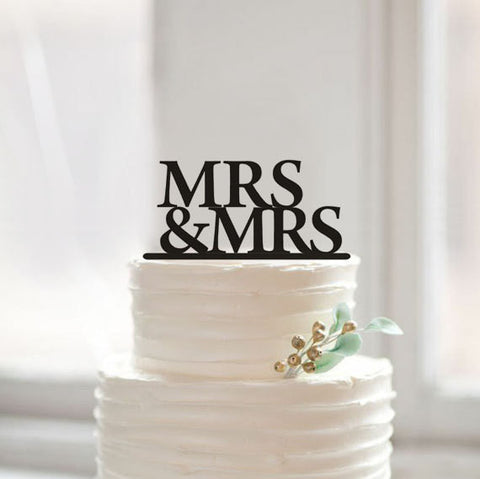 Mrs & Mrs Standard Wedding Cake Topper