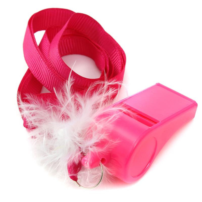 Pink Furry Whistles - 10pcs