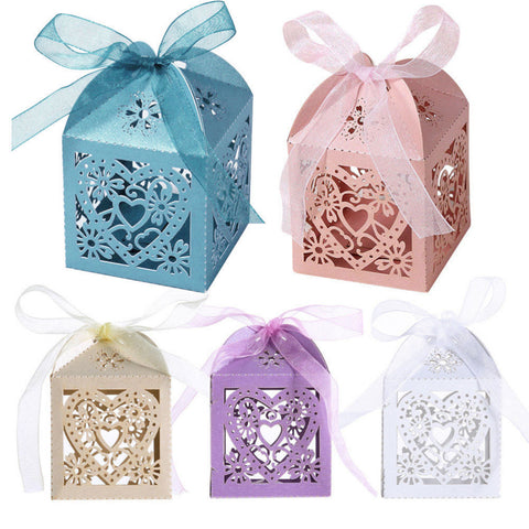 Heart Design Favor Boxes