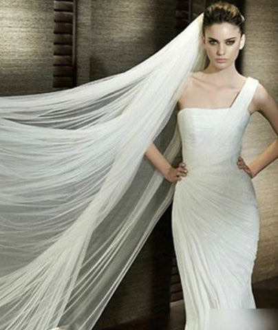 Cathedral Length Bridal Veil With Comb