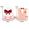 Image of Pink Tuxedo & Dress Favor Boxes - 50pcs