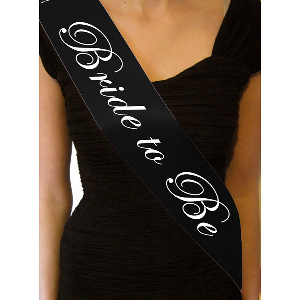 Black Hen Party Sash