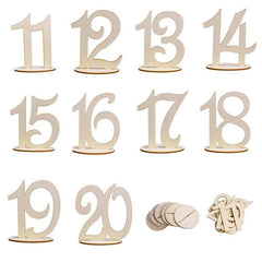 10 Piece Set Wooden Table Numbers
