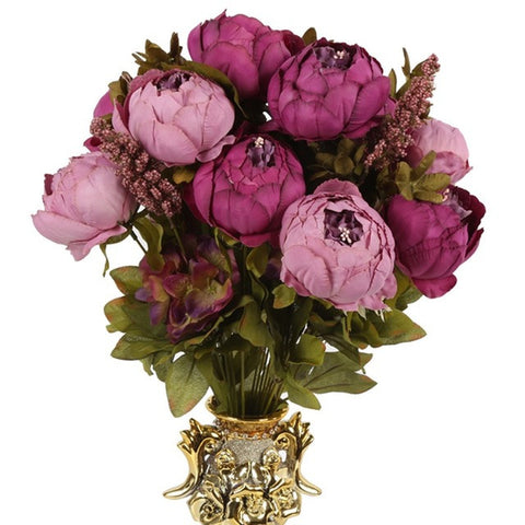 Artificial Silk Peony Bouquet