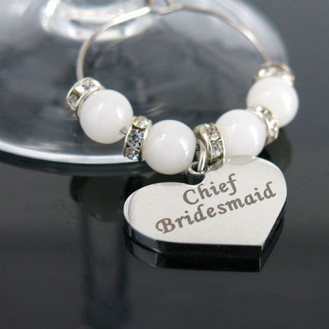 Personalised Wine Glass Charm - 1pc