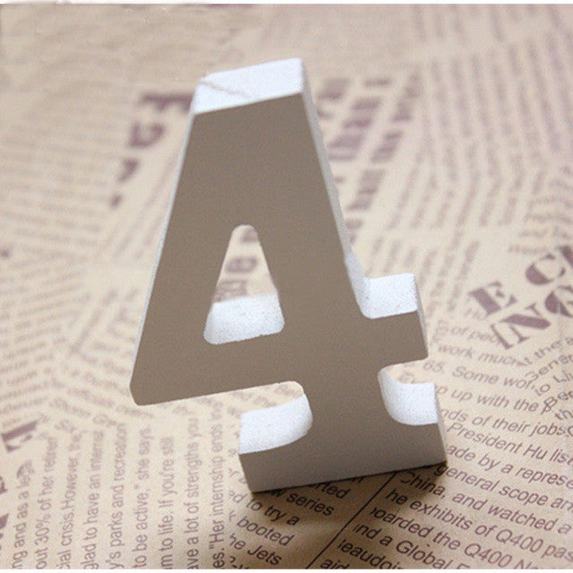 White Wooden Table Numbers