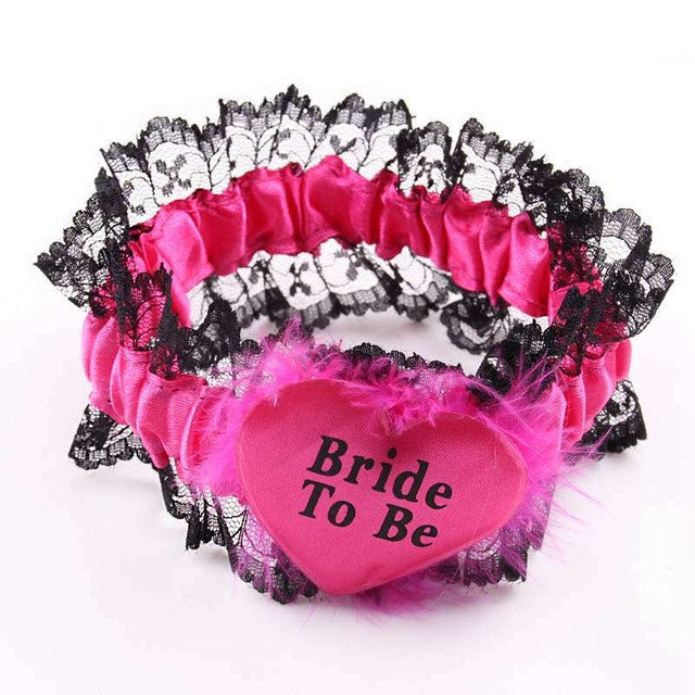 "Hen Party ""Bride To Be"" Garter - Various Designs"