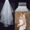 Image of Two Layer Bridal Veil with Satin Edge