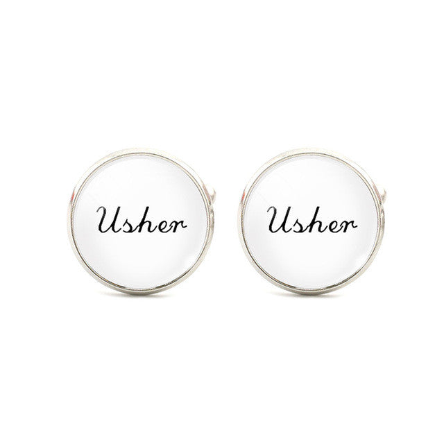 White Personalised Cufflinks - Various Designs